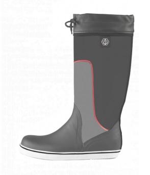 Maindeck tall grey rubber boot-0