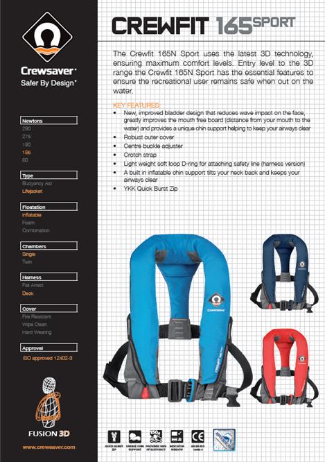 Crewsaver Crewfit 165N Sport Lifejacket Manual Blue-2479