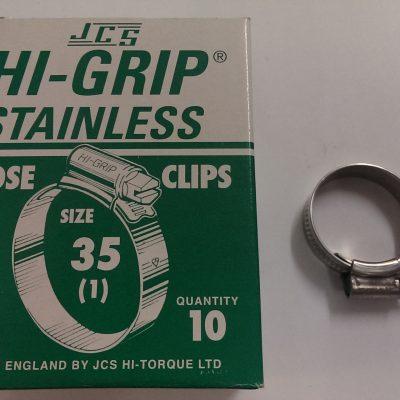 Hi-Grip Size 35 SS Hose Clip-0
