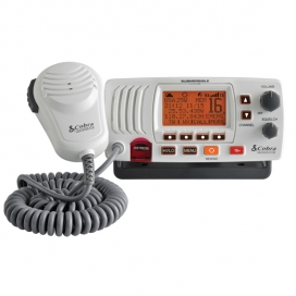 Cobra F57 Fixed VHF Marine Radio - White-0