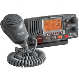 Cobra F77 Fixed VHF Marine Radio with GPS - Grey-0