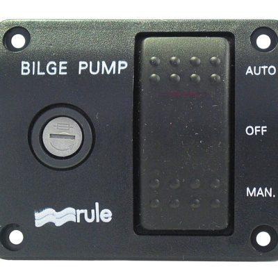Rule 3-Way Lit Rocker Switch 24 volt DC-0