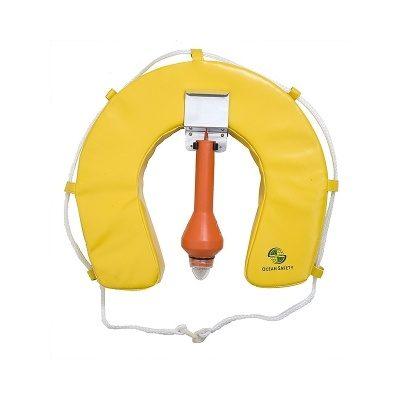Ocean Safety Traditional Soft Horseshoe Lifebuoy Set Yellow-0