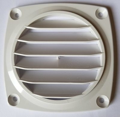 ABS Flush Vent White - 70mm hose dia. Flush-0