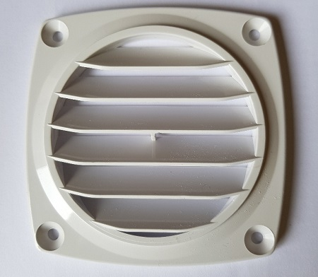 ABS Flush Vent White - 70mm hose dia. Flush-0