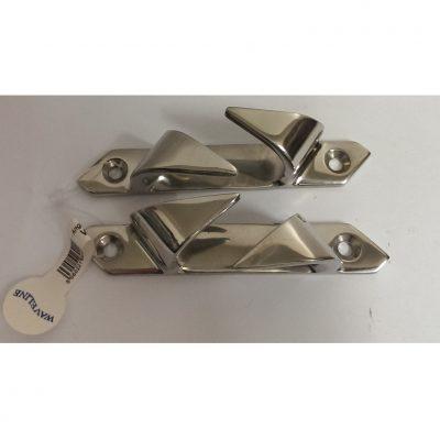 """Waveline Fairlead/Chocks - Angled S/Steel 4 1/2 """" (PAIR L+R)-0"""