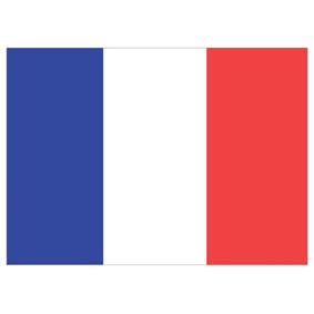 Waveline France Courtesy Flag 45x30cm Printed100d Polyester-0
