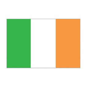 Waveline Ireland Courtesy Flag 45x30cm Printed100d Polyester.-0