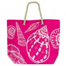 Beach Bag - Shells, Pink-0