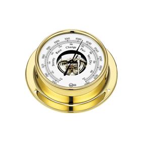 Barigo Barometer Brass 85mm DIAL (110 X 32mm) B183-0