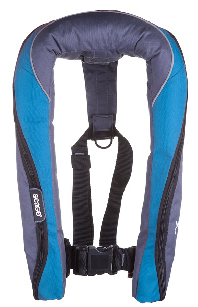 Seago Active 190n Auto Lifejacket With Harness Blue Carbon-0