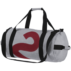 Sailcloth Barrel Bag Medium Grey-0