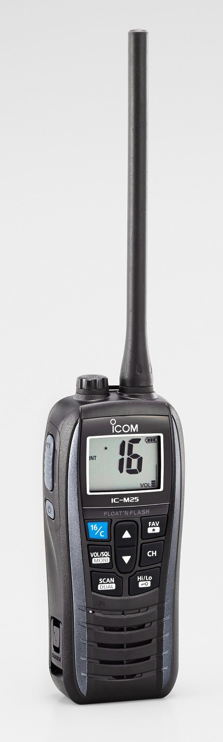 Icom IC-M25 Euro Handheld Marine VHF - Buoyant - Grey or Blue-4427