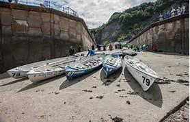 Longboats ashore